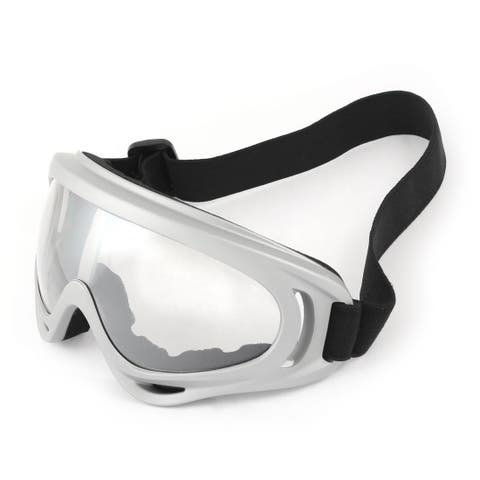 Unique Bargains Adjustable Strap Full Rim Skiing Snowboard Snow Goggles Sunglasses