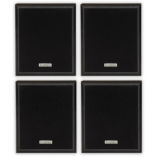 Acoustic Audio RW-SP3 Bookshelf Speakers 200 Watt 2 Way 2 Pair Pack RW-SP3-2PR