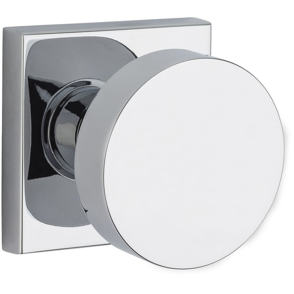 Baldwin PV.CON.CSR Modern Privacy Door Knob Set with Modern Square Trim from the Reserve Collection