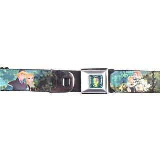 Disney Frozen Anna & Kristoff Poses Seatbelt Belt-Holds Pants Up