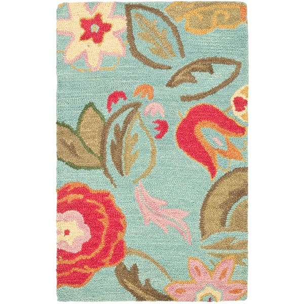 Safavieh Blm675 26 Blossom 2 X 6 Runner Wool Hand Tufted Floral Area Rug Overstock 22920901