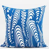 """G Home Collection Luxury Blue Warp Chevron Embroidered Pillow 20""""X20"""""""
