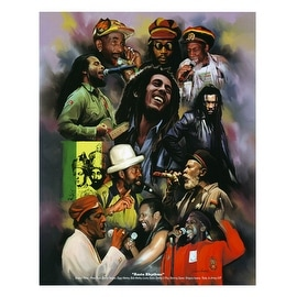 ''Rasta Rhythms'' by Wishum Gregory African American Art Print (11 x 8.5 in.)