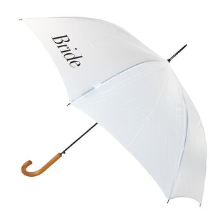ShedRain Women's Bride Wedding Stick Umbrella with Hook Handle - White - One Size