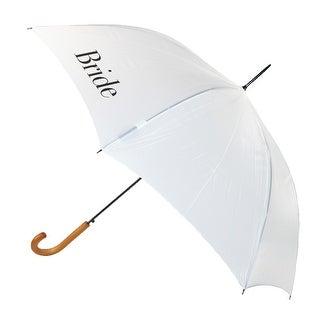 ShedRain Women's Bride Wedding Stick Umbrella with Hook Handle
