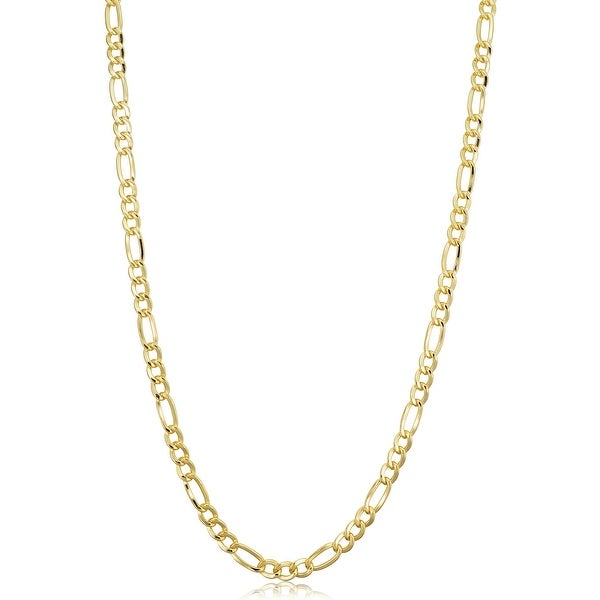 14k Yellow Gold-filled Solid Figaro Link Chain Necklace. Opens flyout.