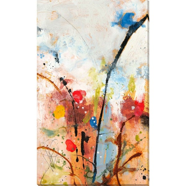 """White and Red Rectangular Canvas Wall Art Decor 28"""" x 17"""" - N/A"""