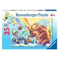 Ravensburger Fun At The Waterhole 35 Pieces Puzzle - Blue - 12.0 in. x 9.0 in.