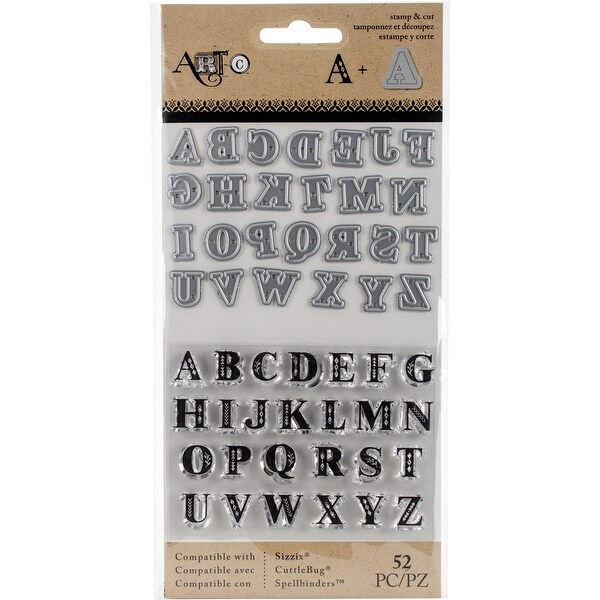 Art-C Stamp & Die Set-Small UC Serif Alpha
