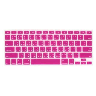 Unique Bargains Fuchsia Silicone Laptop Keyboard Cover Film Guard Protector for MacBook Pro 13