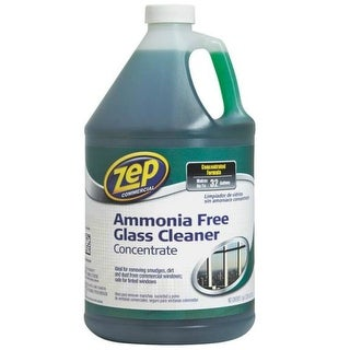 Zep Commercial ZU1052128 Glass Cleaner Concentrate, Ammonia Free, 128 fl oz