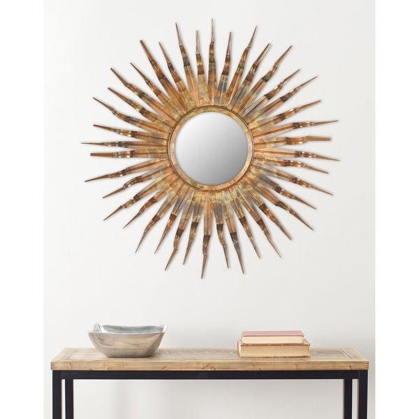 "Safavieh Handmade Art Solar Sunburst 36-inch Decorative Mirror - 36"" x 36"" x 1.5"""