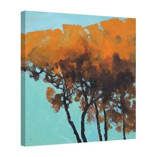 Easy Art Prints Paul Bailey's 'Five Trees' Premium Canvas Art