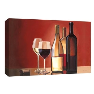 "PTM Images 9-153806  PTM Canvas Collection 8"" x 10"" - ""Wine Trio"" Giclee Wine Art Print on Canvas"