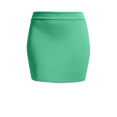 NE PEOPLE Women's Elastic Bodycon Mini Skirt [NNEWSK09]