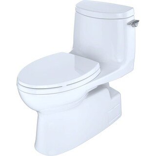 Toto MS614114CUFRG Carlyle II 1G Elongated Toilet with 1 GPF - Seat Included - cotton