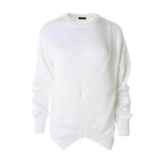 Joseph Womens Knit Long Sleeves Pullover Sweater - L