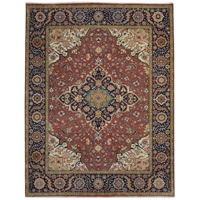 One of a Kind Hand-Knotted Persian 8' x 10' Oriental Wool Red Rug - 8' x 10'