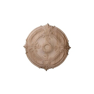 "Ekena Millwork CMW16ACCH 16"" Wide Carved Cherry Acanthus Leaf Ceiling Medallion"