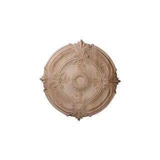 "Ekena Millwork CMW20ACCH 20"" Wide Carved Cherry Acanthus Leaf Ceiling Medallion"