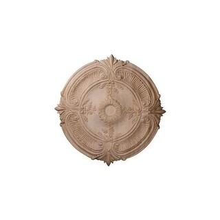 "Ekena Millwork CMW24ACCH 24"" Wide Carved Cherry Acanthus Leaf Ceiling Medallion"