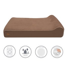 Lux by FrontPet Orthopedic Dog Bed / Premium Memory Foam Dog Bed With Removable Microfiber Machine Washable Slipcover