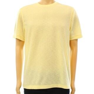 Tasso Elba NEW Yellow Lemon Mens Size XL Slub Crewneck Tee T-Shirt