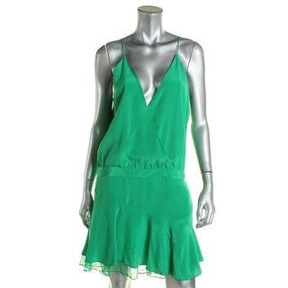Mason by Michelle Mason Womens Slip Dress Silk Lace-Trim - 8