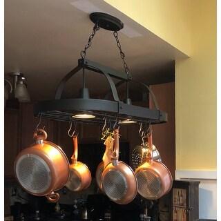Elegant Designs Home Collection 2-light Kitchen Pot Rack