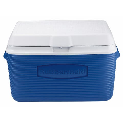 Rubbermaid FG2A2002MOD Victory 34 Quart Capacity Portable Ice Chest - - Blue