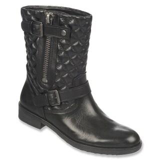 Franco Sarto Womens Padua Leather Almond Toe Ankle Fashion Boots