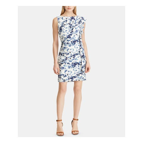 AMERICAN LIVING Ivory Sleeveless Above The Knee Sheath Dress Size 16