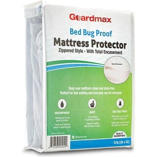Link to Guardmax Bed Bug Mattress Protector Crib and Portacrib Sizes Similar Items in Mattress Pads