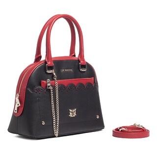 Moschino JC4230 100A Red/Black Dome Satchel Bag - 16-11-6