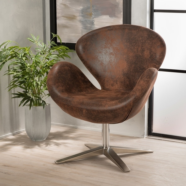Modern Brown Petal Chair by Christopher Knight Home. Opens flyout.