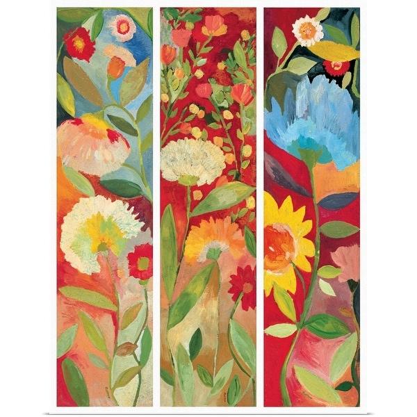 """Red Garden"" Poster Print"