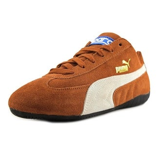 Puma Speed Cat Youth Round Toe Suede Brown Sneakers