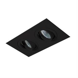 Jesco Lighting 2-Light 700W Adjustable Gimbal Recessed Kit - Black
