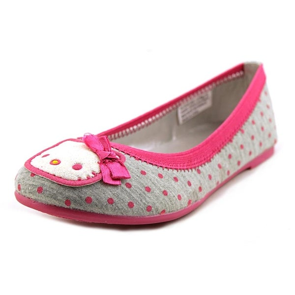 Shop Hello Kitty Darling Youth Round Toe Canvas Gray Flats Free