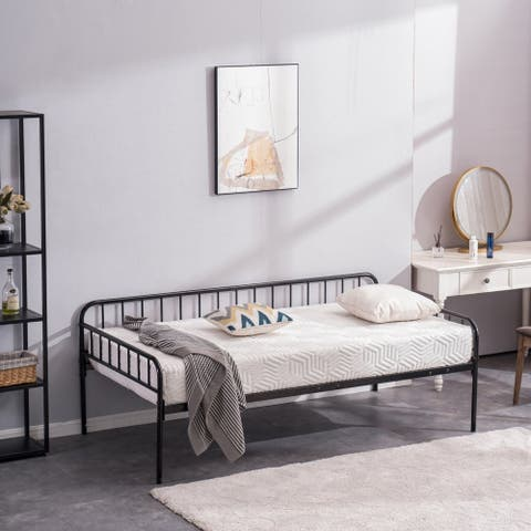 Metal Frame Brushed Bronze Day Bed Twin Size