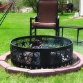 Sunnydaze Heavy Duty Four Star Campfire Ring, 36 Inch Diameter - Thumbnail 0