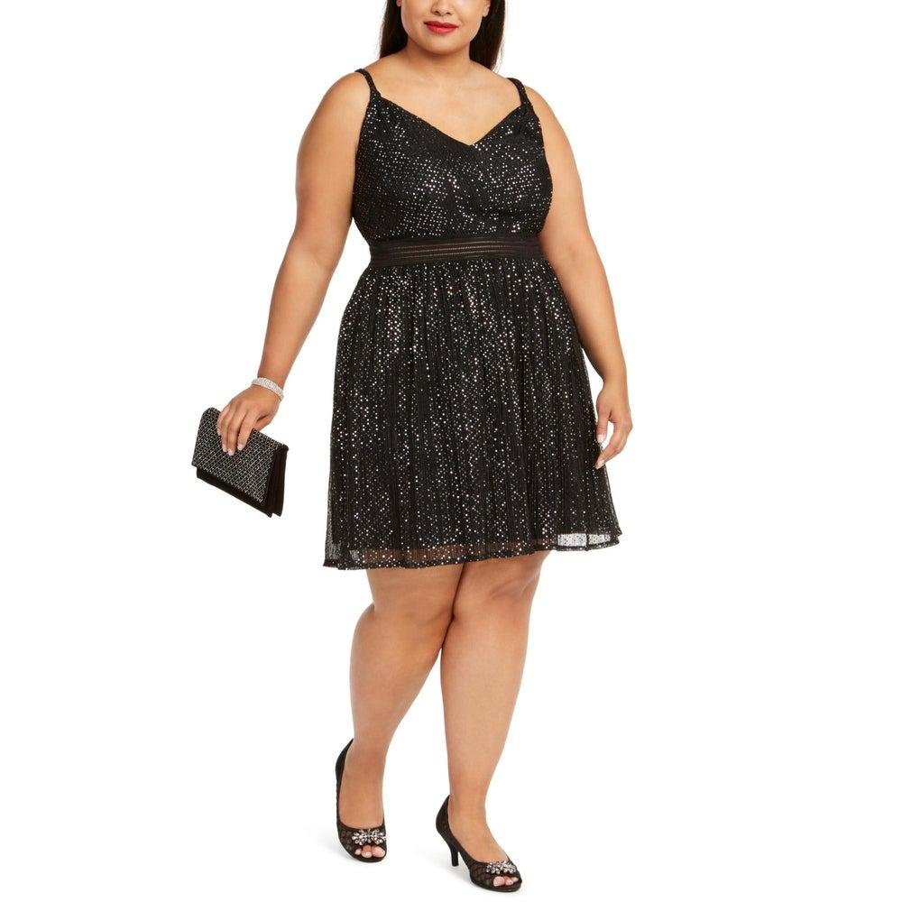 CITY STUDIO NEW Women/'s Plus Size Party Cocktail A-Line Dress TEDO