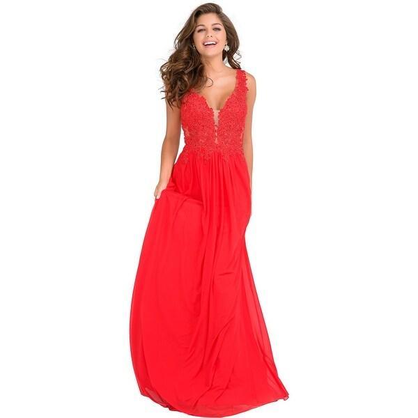 fecbbbe6348 Shop JVN by Jovani Womens 41466A Evening Dress Prom Embellished ...