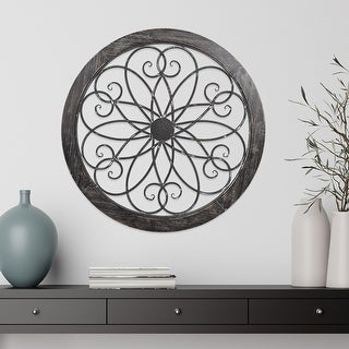 Link to Hastings Home Metal and Wood Medallion Openwork Wall Decor Similar Items in Wall Sculptures