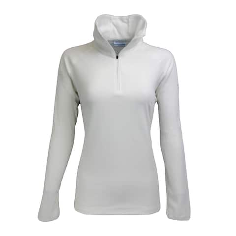 Columbia Women's Glacial III 1/2 Zip Fleece Solid Sea Salt L - Sea Salt