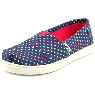 Toms Classic Youth Round Toe Canvas Blue Flats