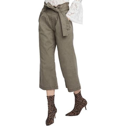 Rachel Roy Womens Paperbag Casual Wide Leg Pants