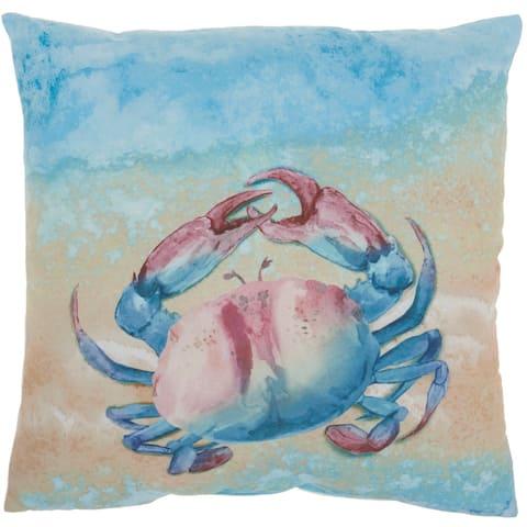 """Mina Victory Outdoor Pillows Multicolor Throw Pillow , ( 18""""X18"""" )"""