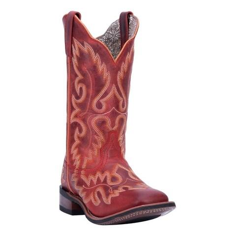 Laredo Western Boots Womens Eva Broad Square Stockman Heel Red