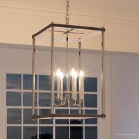 "Luxury Modern Farmhouse Pendant Light, 32""H x 20""W, with English Country Style, Brushed Nickel Finish by Urban Ambiance"